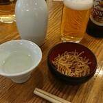 Souhonkesarashinahorii - まずはお酒からw