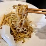 餃子と担々麺 吟 - 汁無し白胡麻坦々麺 麺アップ