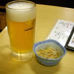 14239797 - 生ビール190円とお通し336円