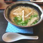 麺や ほり野 - ごぼう天うどん500円。ほり野さんのウリでもあります。