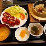 金の釜 徳衛門 - ヤンニョムチキン定食