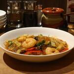 Chuukashokudouwanchan - 海老と春雨の辛味炒め