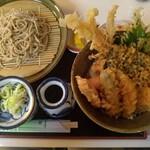 蕎麦うどん 山長 - 料理写真:海老天丼・そばセット1200円