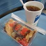 ふる里 - 広島焼き(\500)とウーロン茶(\200)