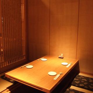 個室は会食、接待、宴会利用にお勧めです。