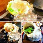 ラーメン居酒屋 鮫鱈鯉 - 大貝のトタン焼き