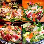 ラーメン居酒屋 鮫鱈鯉 - ご予約にて刺身盛り合わせ承ります