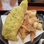 佐吉 - <2012/08/09>穴子天、海鮮かき揚げ