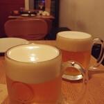ウエルト - まずは生ビールで乾杯♪