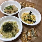 大和名物大餃子の店 サイヨー - 広東炒飯、きゅうりと大葉のサッパリ炒飯、玉子と豚肉と木耳炒め、焼き餃子5個入りと3個入り