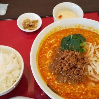 中国料理 川菜味 - 料理写真:担々麺大盛り・ライスセット(1100円)