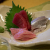 食楽酒房すだ - 料理写真:お刺し身(赤身、トロ、鰯)