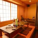 日本酒×炭火バル からんと - 足を伸ばしてゆったりできる座敷のお席。