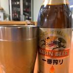 天ぷら 豊野 - 瓶ビール
