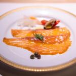 洋食 つばき - タスマニ産スモークサーモン