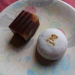 ときわ木 - 栗蒸し羊羹 330円 & 黒まんじゅう 280円