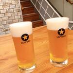 鎌倉かつ亭 あら珠 総本店 - ちょい飲みセットのドリンクはビールをチョイス