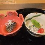 14251276 - お通し 小鉢2品 【 2012年8月 】