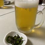 鳥平 - 生ビール(中) 570円