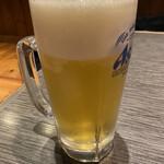 居酒屋源六 - 生ビール【400円】