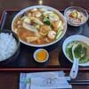 Choushun - 料理写真:ランチ 五目あんかけ焼きそば Aセット ¥820
