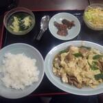 順香 - 豚肉とピーマンと中国干し豆腐の炒め