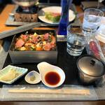ハルヤマシタ 東京本店 - 海外逆輸入ちらし寿司神戸牛炭火焼合盛り