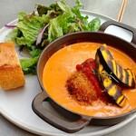タカナシミルクレストラン - カニクリームコロッケと南瓜のトマトクリームグラタン