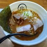 麺創 麺魂 - 魚介鶏豚骨醤油ラーメン