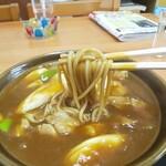 長寿庵 - 料理写真:カレー南蛮そばのアップ