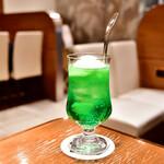 喫茶ネギシ - ソーダフロート@700円