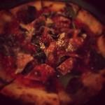 まるげ - 生ハムとルッコラのピザ