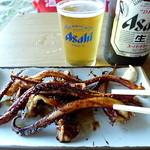 琴ケ瀬茶屋 - イカゲソ焼き300円。安い。