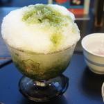 銀座 鹿乃子 - 氷宇治金時(つぶし餡入り)・白玉付き(1330円)♥