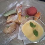 エヌプラスカフェ - デザートプレート700円 2012/8