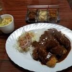 からす亭 - 料理写真:チキンかつカレー(税込1,180円)