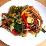 cafe nagisa - 豚と夏野菜の香味あんかけ炒め