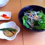 cafe nagisa - セットのサラダ・小鉢