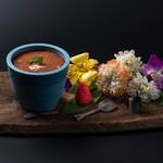 ◇マスカルポーネチーズと苺のティラミスカクテル