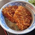 ソースカツ丼・そば きりの実 - ミニ丼と椀蕎麦セット