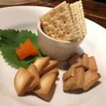 142614016 - 2種チーズと卵黄の味噌漬け