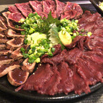 ROCK'N KITCHEN あいたい屋 - 前菜盛り合わせ(肉刺し)