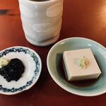 朴念仁 重庵 - わさび海苔 350円 そば豆腐 350円