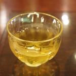 ちもと - 冷たいお茶。このお茶が美味しかった~♪