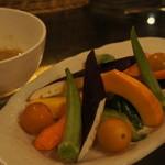 14262701 - 有機野菜のバーニャカウダ 850円