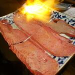 焼肉ホルモンブンゴ - 上霜降りタン塩