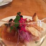 レストラン フィーネ - 蟹とセロリのクリスケッタ