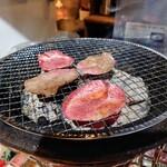 焼肉 肉兵衛 - 令和2年12月 塩タン定食 1078円