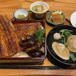 Unagiokafuji - 肝入り上鰻重¥6.150 ハマグリのお吸い物も絶品