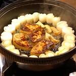 鳥長 - 葱とフォアグラの鍋